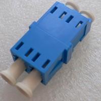 Duplex LC Short Flange Slotted Adapter Blue Color Ceramic Sleeve