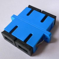 Duplex Plastic SC Fiber Optic Adapter Blue Color Ceramic Sleeve