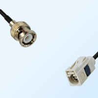 Fakra B 9001 White Female - BNC Male Coaxial Cable Assemblies