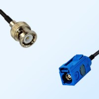 Fakra C 5005 Blue Female - BNC Male Coaxial Cable Assemblies
