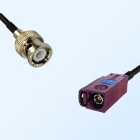 Fakra D 4004 Bordeaux Female - BNC Male Coaxial Cable Assemblies