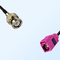 Fakra H 4003 Violet Female - BNC Male Coaxial Cable Assemblies