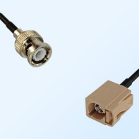 Fakra I 1001 Beige Female - BNC Male Coaxial Cable Assemblies