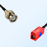 Fakra L 3002 Carmin Red Female - BNC Male Coaxial Cable Assemblies