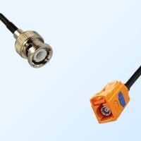 Fakra M 2003 Pastel Orange Female - BNC Male Coaxial Cable Assemblies
