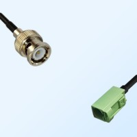 Fakra N 6019 Pastel Green Female - BNC Male Coaxial Cable Assemblies