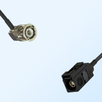 Fakra A 9005 Black Female - BNC Male R/A Coaxial Cable Assemblies