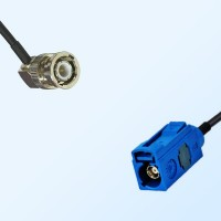Fakra C 5005 Blue Female - BNC Male R/A Coaxial Cable Assemblies