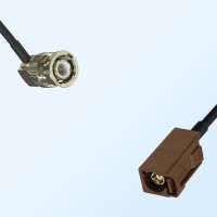 Fakra F 8011 Brown Female - BNC Male R/A Coaxial Cable Assemblies
