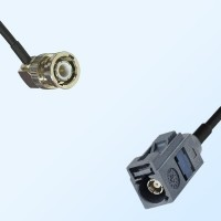 Fakra G 7031 Grey Female - BNC Male R/A Coaxial Cable Assemblies