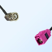 Fakra H 4003 Violet Female - BNC Male R/A Coaxial Cable Assemblies