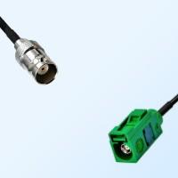 Fakra E 6002 Green Female - BNC Female Coaxial Cable Assemblies