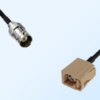 Fakra I 1001 Beige Female - BNC Female Coaxial Cable Assemblies