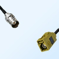 Fakra K 1027 Curry Female - BNC Female Coaxial Cable Assemblies