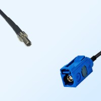 Fakra C 5005 Blue Female - CRC9 Male Coaxial Cable Assemblies