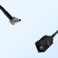 Fakra A 9005 Black Female - CRC9 Male R/A Coaxial Cable Assemblies