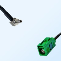 Fakra E 6002 Green Female - CRC9 Male R/A Coaxial Cable Assemblies