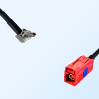 Fakra L 3002 Carmin Red Female - CRC9 Male R/A Cable Assemblies