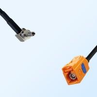 Fakra M 2003 Pastel Orange Female - CRC9 Male R/A Cable Assemblies