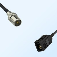 Fakra A 9005 Black Female - DVB-T TV Male Coaxial Cable Assemblies