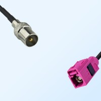 Fakra H 4003 Violet Female - DVB-T TV Male Coaxial Cable Assemblies