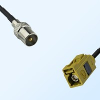 Fakra K 1027 Curry Female - DVB-T TV Male Coaxial Cable Assemblies