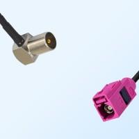 Fakra H 4003 Violet Female - DVB-T TV Male R/A Cable Assemblies