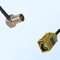 Fakra K 1027 Curry Female - DVB-T TV Male R/A Coaxial Cable Assemblies