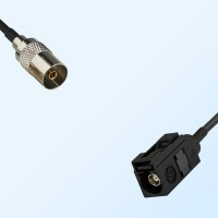 Fakra A 9005 Black Female - DVB-T TV Female Coaxial Cable Assemblies