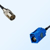 Fakra C 5005 Blue Female - DVB-T TV Female Coaxial Cable Assemblies