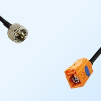 Fakra M 2003 Pastel Orange Female - F Male Coaxial Cable Assemblies