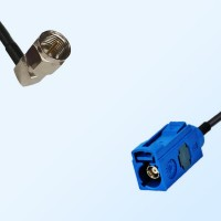 Fakra C 5005 Blue Female - F Male Right Angle Coaxial Cable Assemblies