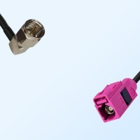 Fakra H 4003 Violet Female - F Male R/A Coaxial Cable Assemblies