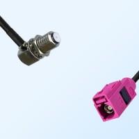 Fakra H 4003 Violet Female - F Bulkhead Female R/A Cable Assemblies