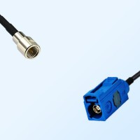 Fakra C 5005 Blue Female - FME Male Coaxial Cable Assemblies