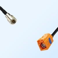 Fakra M 2003 Pastel Orange Female - FME Male Coaxial Cable Assemblies