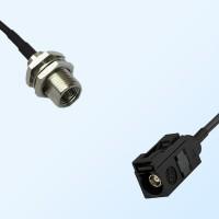 Fakra A 9005 Black Female - FME Bulkhead Male Coaxial Cable Assemblies
