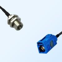 Fakra C 5005 Blue Female - FME Bulkhead Male Coaxial Cable Assemblies