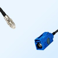 Fakra C 5005 Blue Female - FME Female Coaxial Cable Assemblies