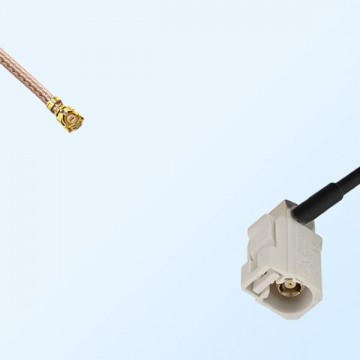 Fakra B 9001 White Female Right Angle - IPEX  Coaxial Cable Assemblies