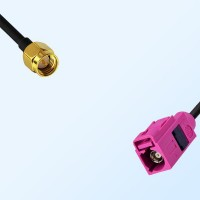 Fakra H 4003 Violet Female - SMA Male Coaxial Cable Assemblies