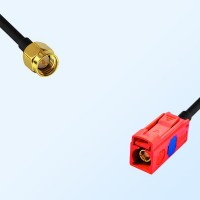 Fakra L 3002 Carmin Red Female - SMA Male Coaxial Cable Assemblies