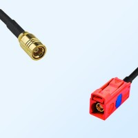 Fakra L 3002 Carmin Red Female - SMB Female Coaxial Cable Assemblies