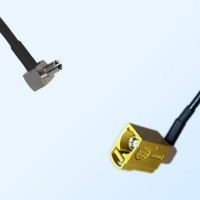 Fakra K 1027 Curry Female R/A - TS9 Male R/A Coaxial Cable Assemblies