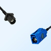 Fakra C 5005 Blue Female - Fakra A 9005 Black Male Cable Assemblies