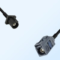 Fakra G 7031 Grey Female - Fakra A 9005 Black Male Cable Assemblies