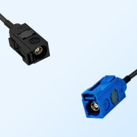Fakra C 5005 Blue Female - Fakra A 9005 Black Female Cable Assemblies