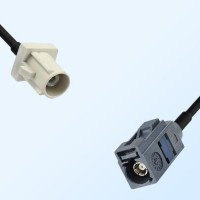 Fakra G 7031 Grey Female - Fakra B 9001 White Male Cable Assemblies