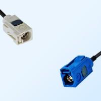 Fakra C 5005 Blue Female - Fakra B 9001 White Female Cable Assemblies