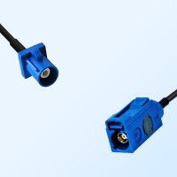 Fakra C 5005 Blue Female - Fakra C 5005 Blue Male Cable Assemblies